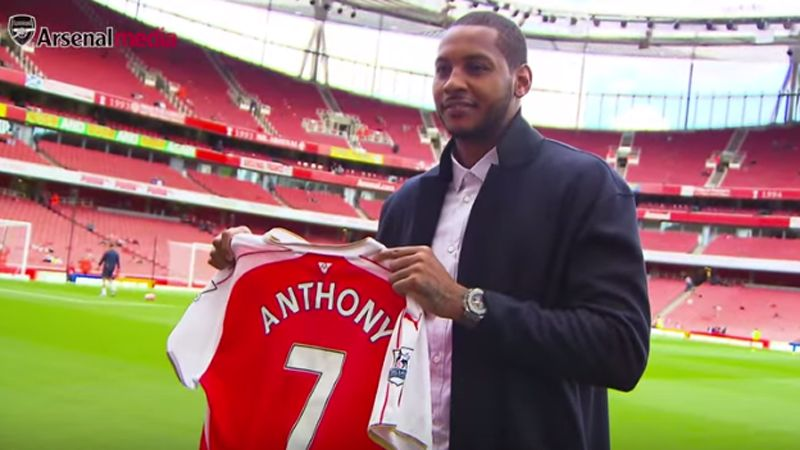 Image result for carmelo anthony arsenal