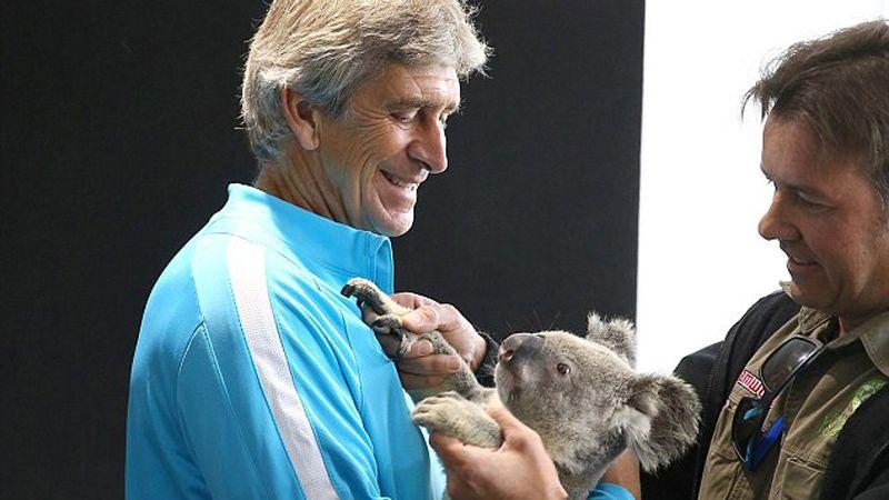 Manuel Pellegrini with Koala