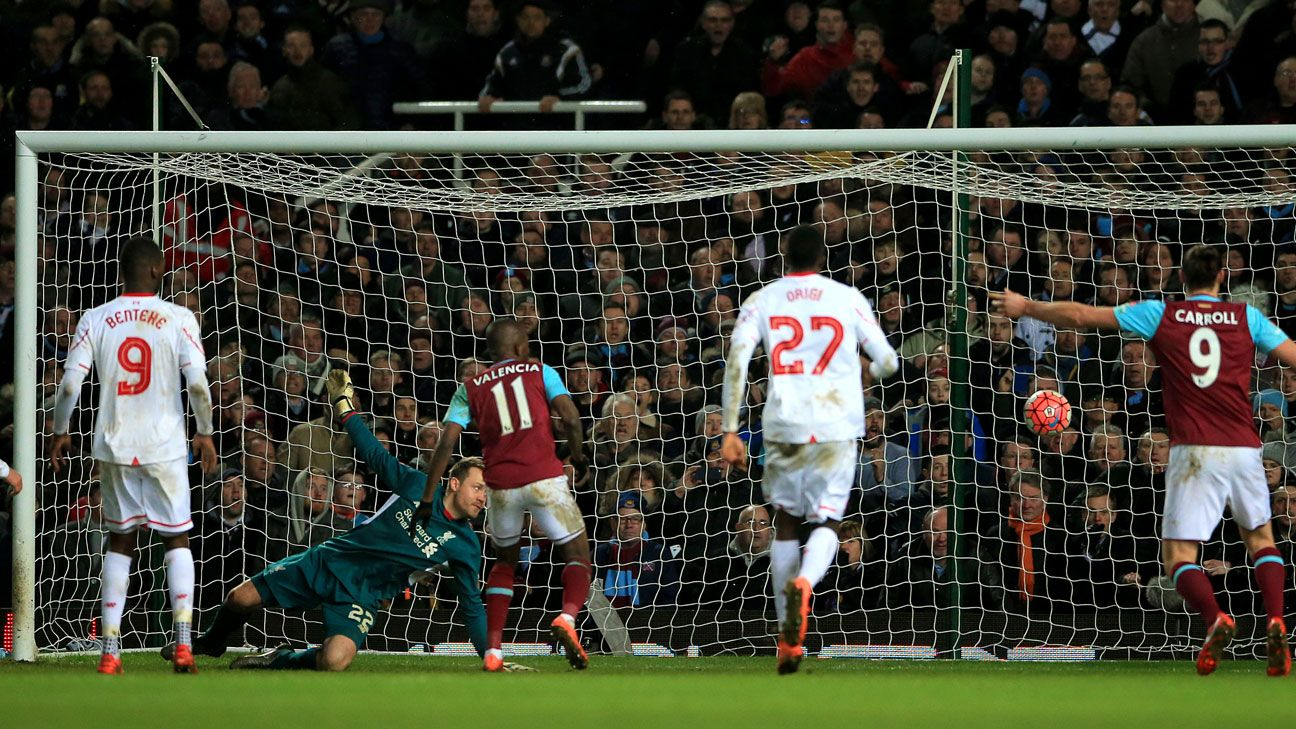 West Ham goal Liverpool
