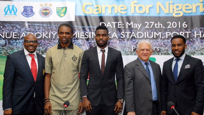 Former Man United Manager David Moyes and Kolo Toure set for Joseph Yobo testimonial Game