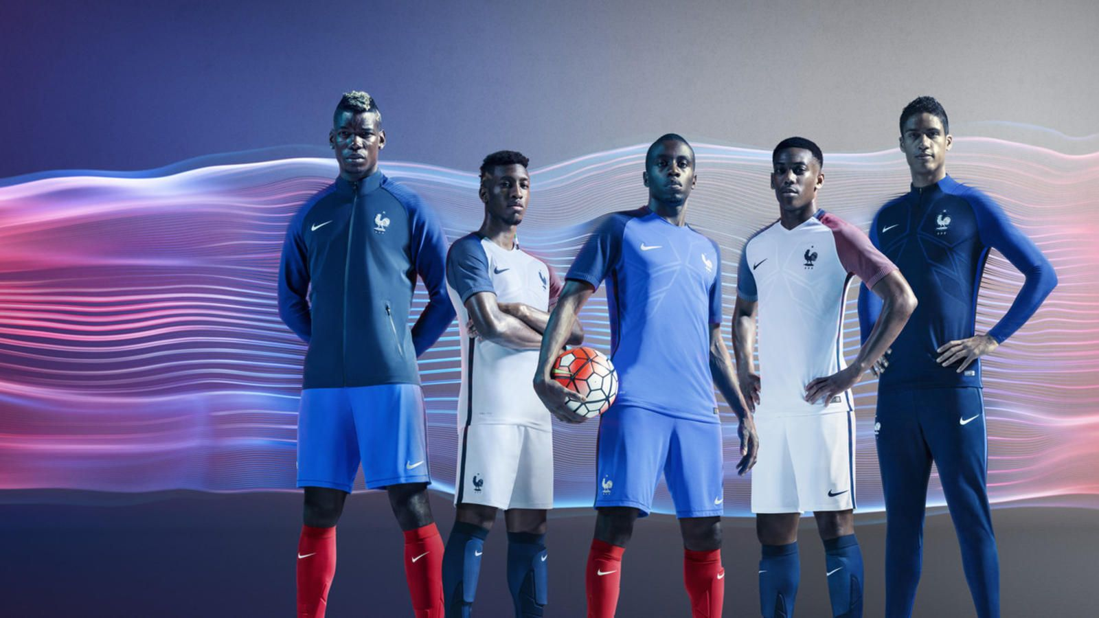 France players debut the new kits they'll wear at this summer's European Championship on home soil.
