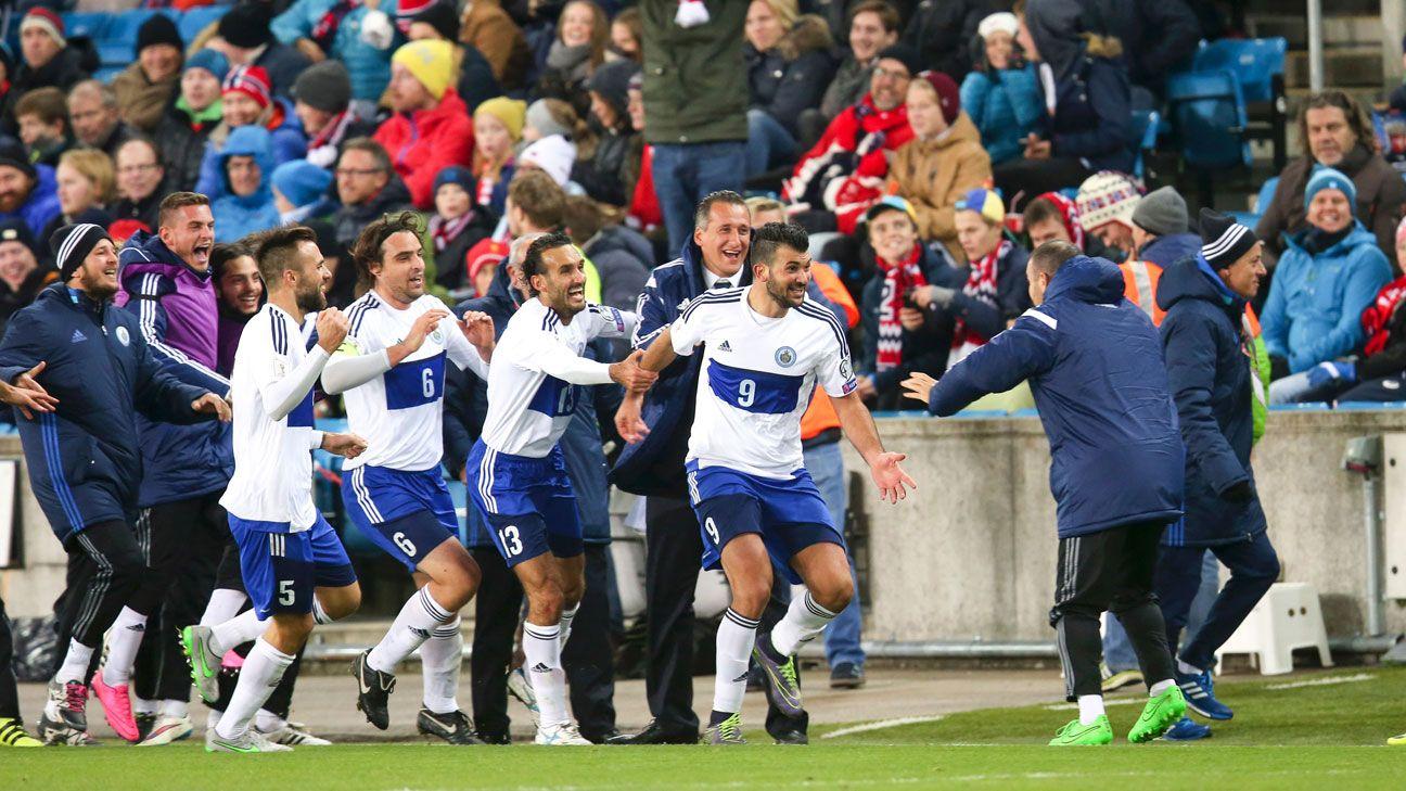 San Marino goal celeb