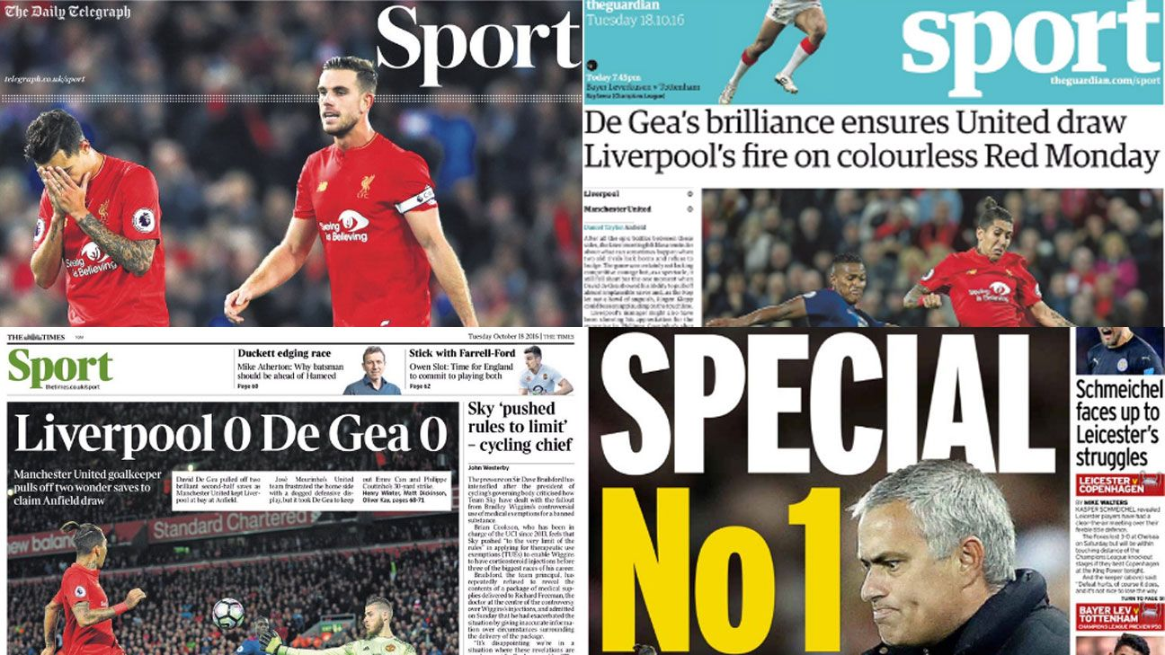 Liverpool Manchester United newspapers