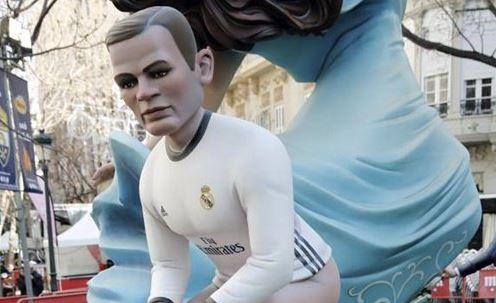 Cristiano Ronaldo effigy at Las Fallas festival