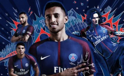 PSG 2017-18 home kit