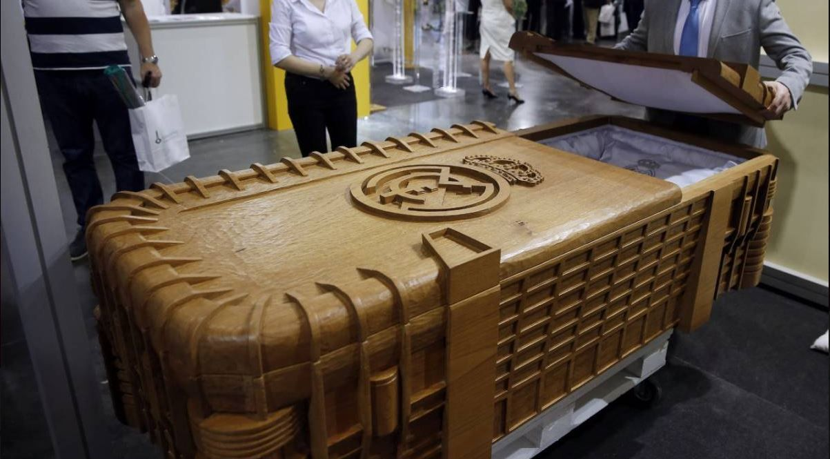 Real Madrid Bernabeu coffin