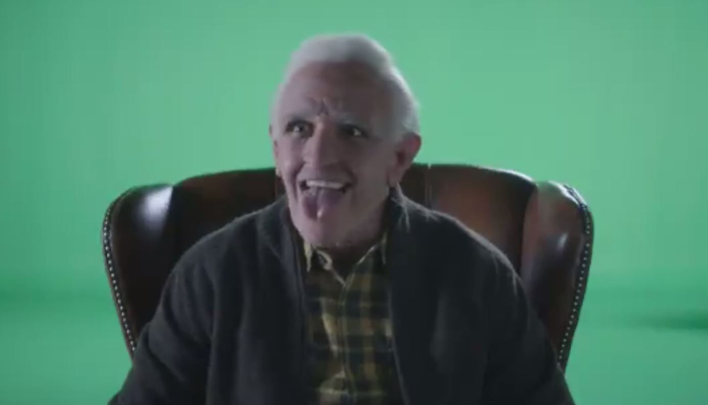 Alexis Sanchez showed his fun side in outtakes for a recent ad