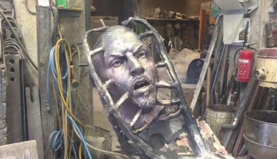 Zlatan Ibrahimovic's statue is almost ready