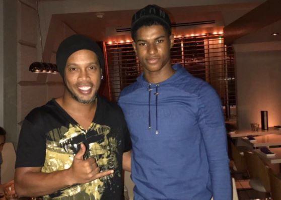 Marcus Rashford meets Ronaldinho