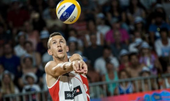 Ivan Perisic plays international beach volleyball for Croatia