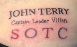 Aston Villa fan gets John Terry's name tattooed on his backside