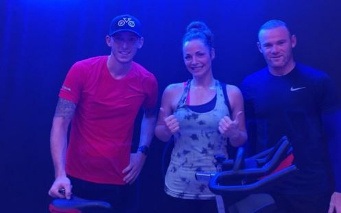Wayne Rooney attended a spin class in his hometown of Liverpool