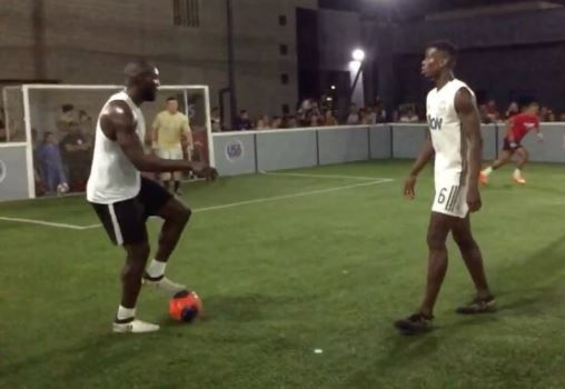 Romelu Lukaku and Paul Pogba play 5-a-side in LA