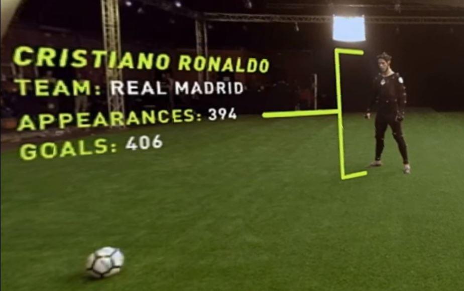 Cristiano Ronaldo's free kick technique was captured for FIFA 18
