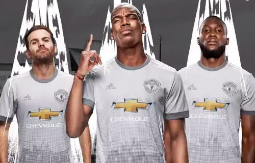 Manchester United's new silver away kit for 2016-17 season
