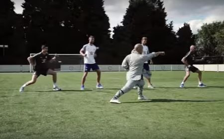 Chelsea stars toughened up by training session with Shaolin monk