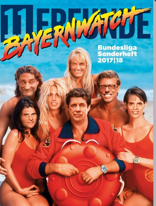 German magazine 11 Freunde put Bundesliga coaches' faces on Baywatch stars bodies