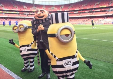 Gru and several minions will entertain Arsenal fans at the Emirates Cup