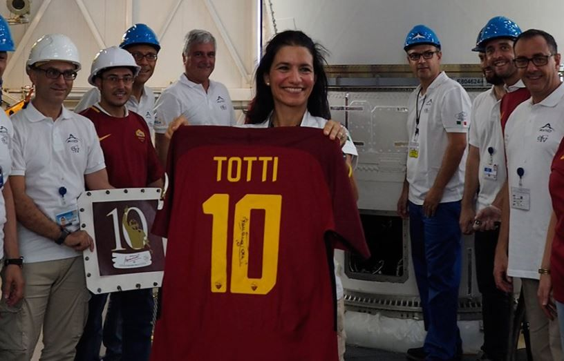Roma legend Francesco Totti's shirt has been launched into space