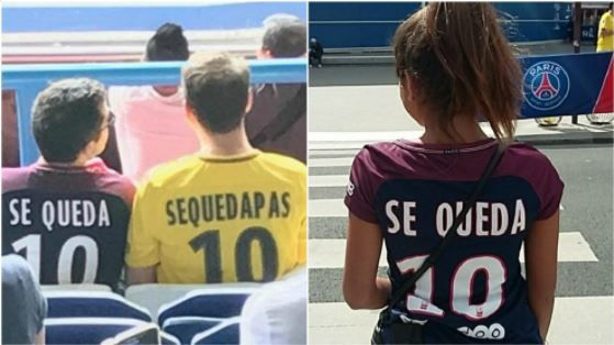 PSG fans troll Gerard Pique over Neymar deal with 'Se Queda' on shirts
