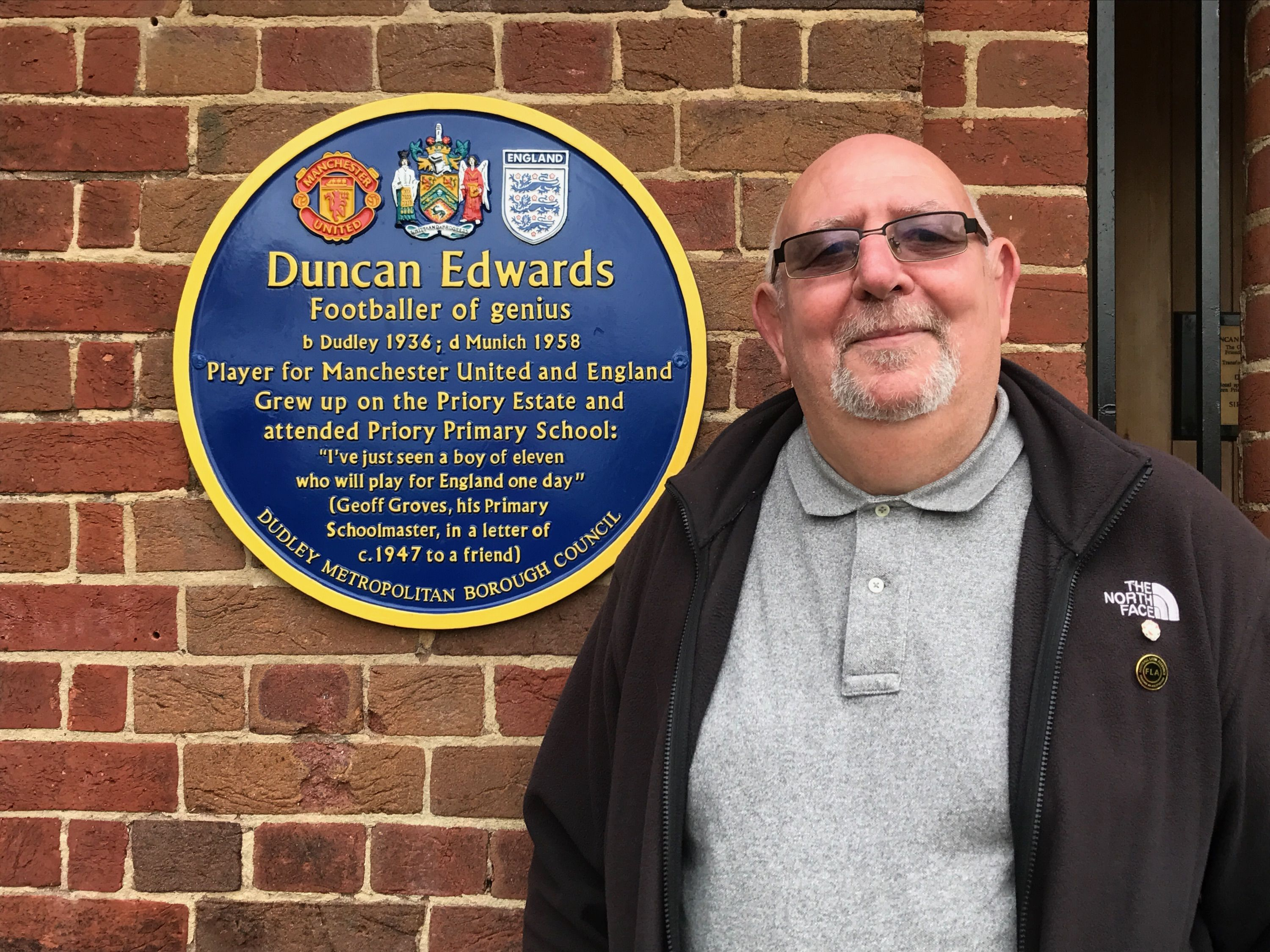 Tony Crook Duncan Edwards memorial