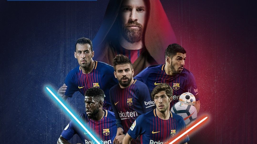 Barcelona celebrate Star Wars Day