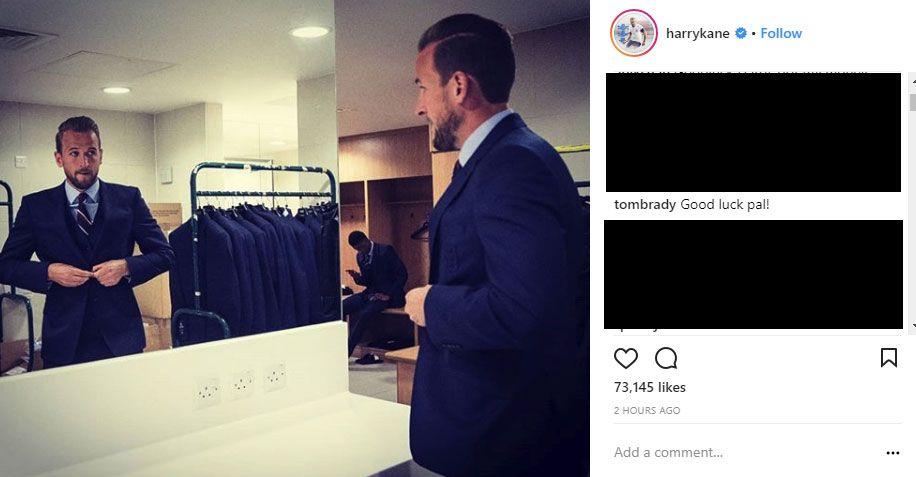 Tom Brady posted on Harry Kane's social media.