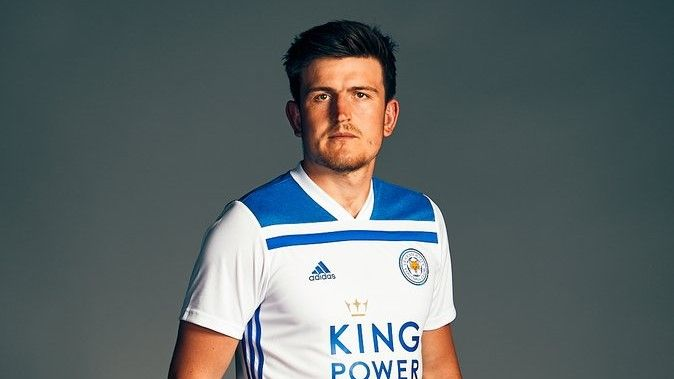 Leicester City away kit Harry Maguire