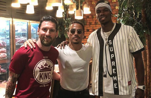 Lionel Messi and Paul Pogba met up in Dubai.
