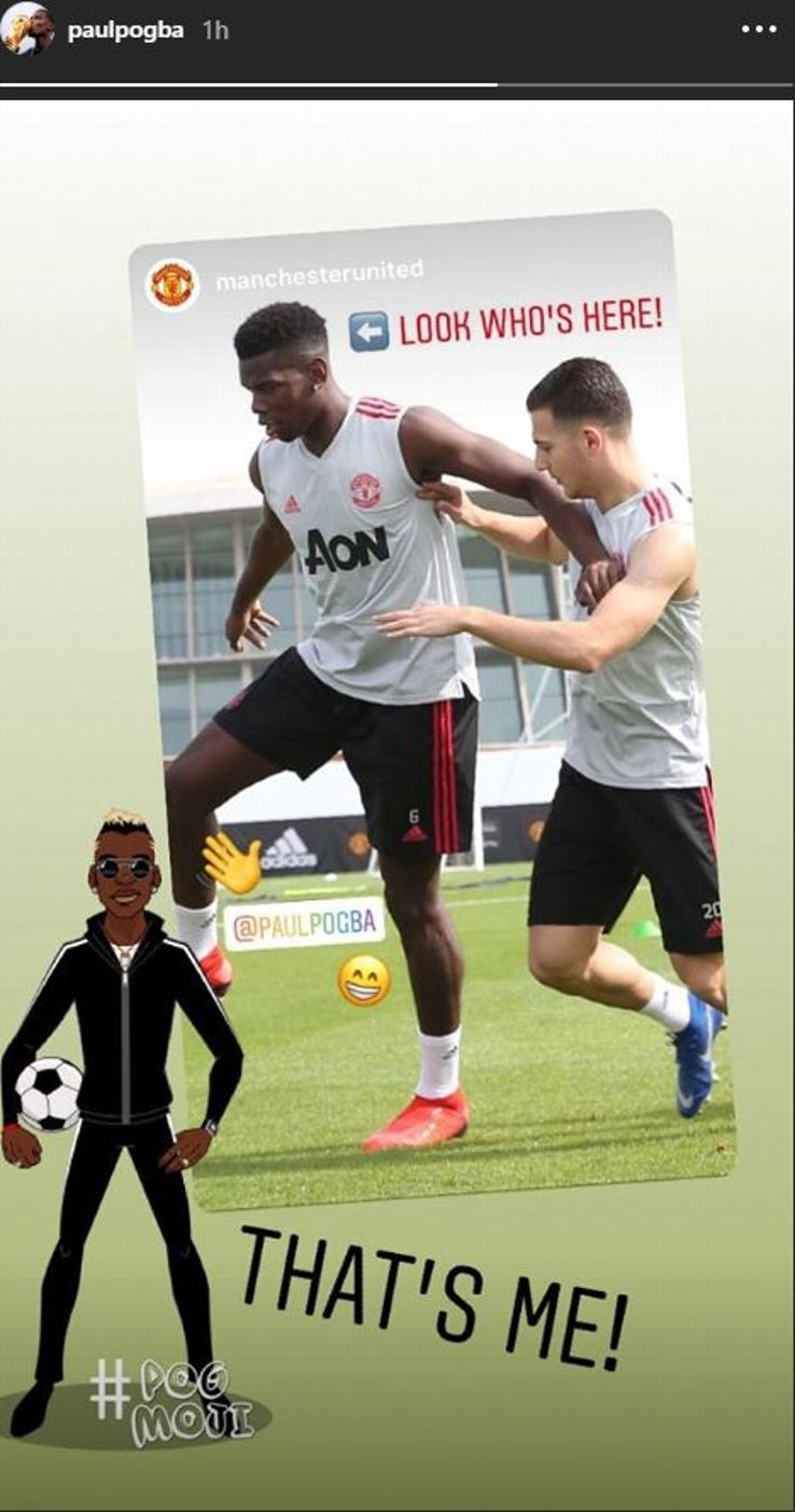 Paul Pogba posted on Instagram after arrivng in Dubai