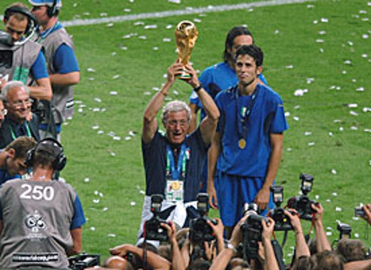 Italy coach Lippi savours the moment.