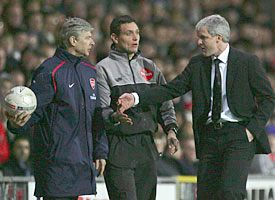 'Can I have my ball back, please?' Arsene Wenger isn't playing fair with Mark Hughes
