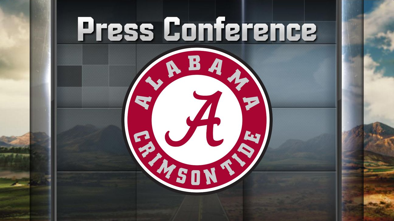Alabama Football Weekly Press Conference