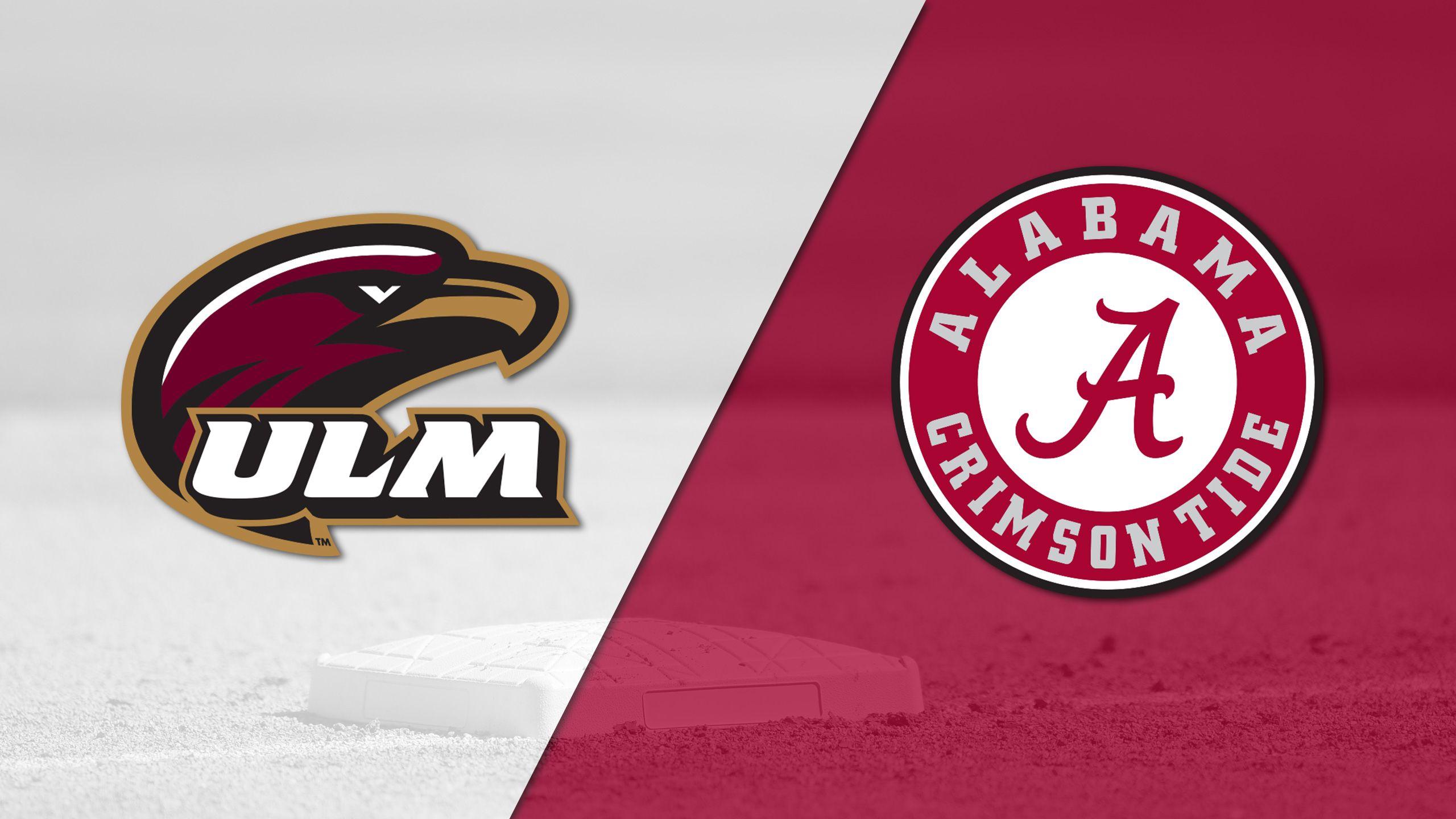 Louisiana-Monroe vs. Alabama (Baseball)