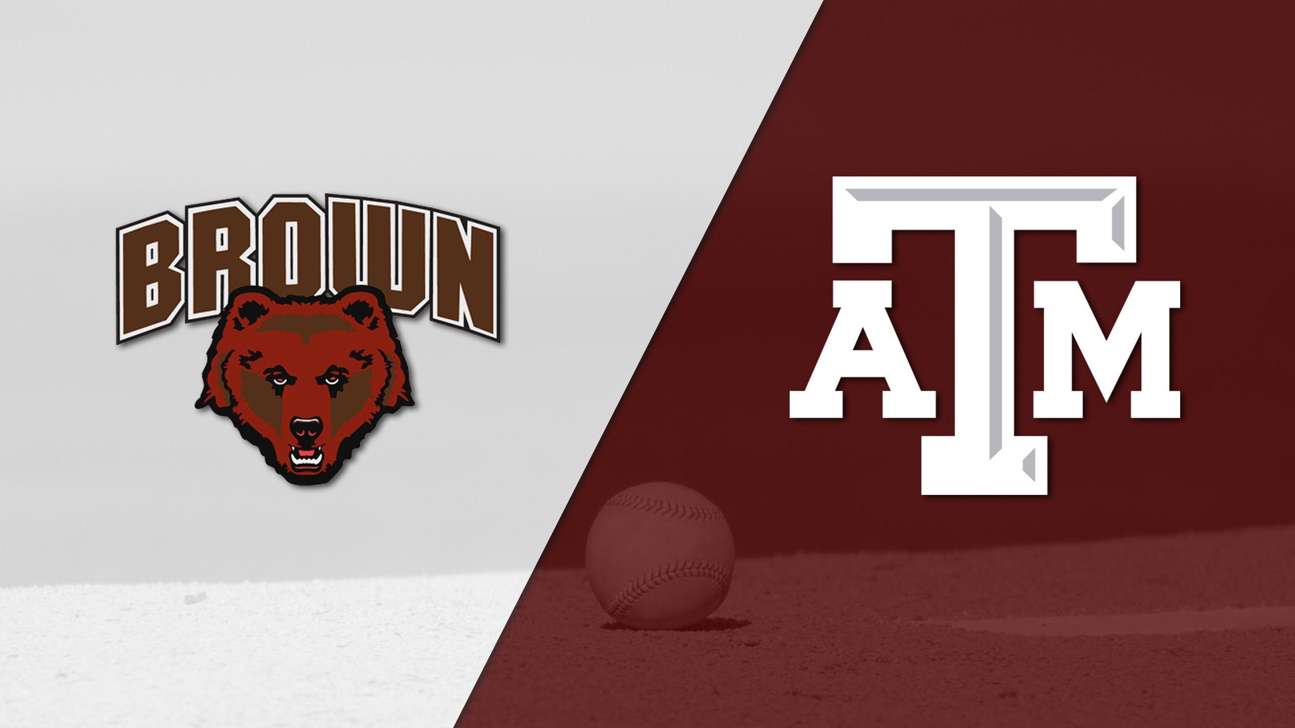 Brown vs. #12 Texas A&M (Baseball)