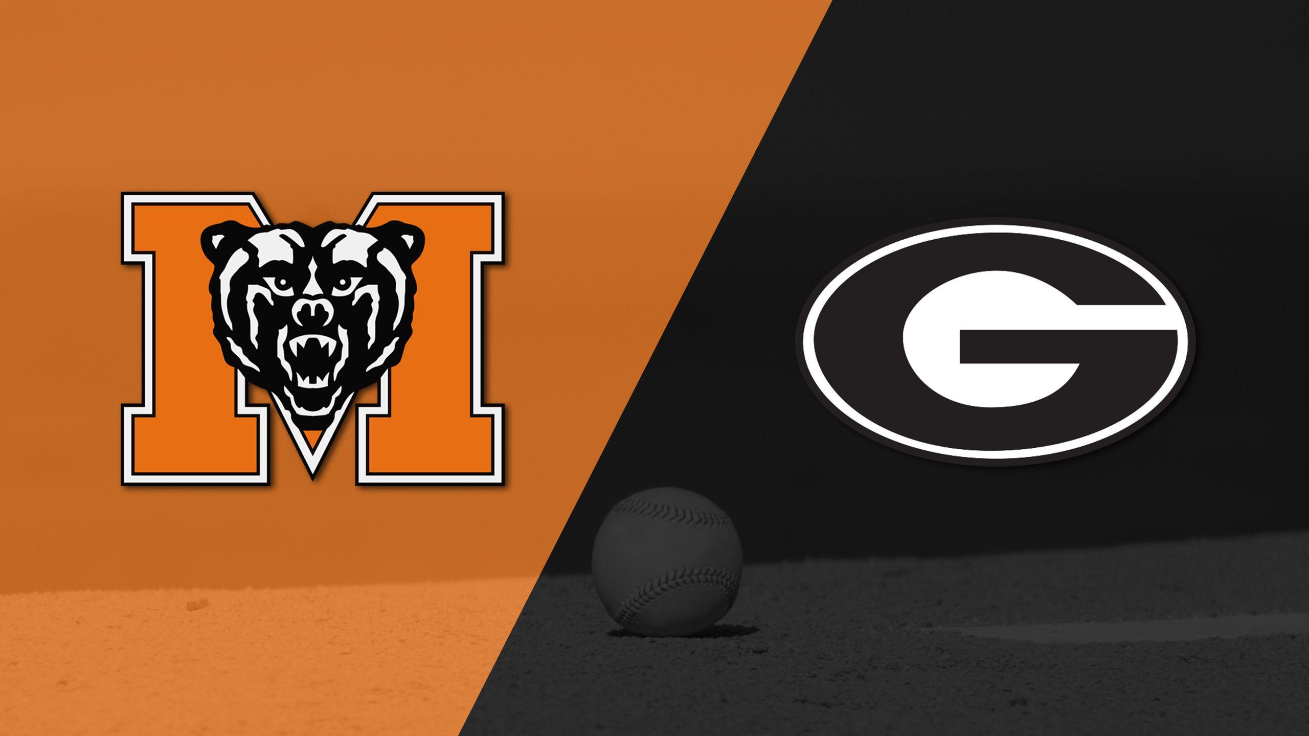Mercer vs. Georgia (Baseball)