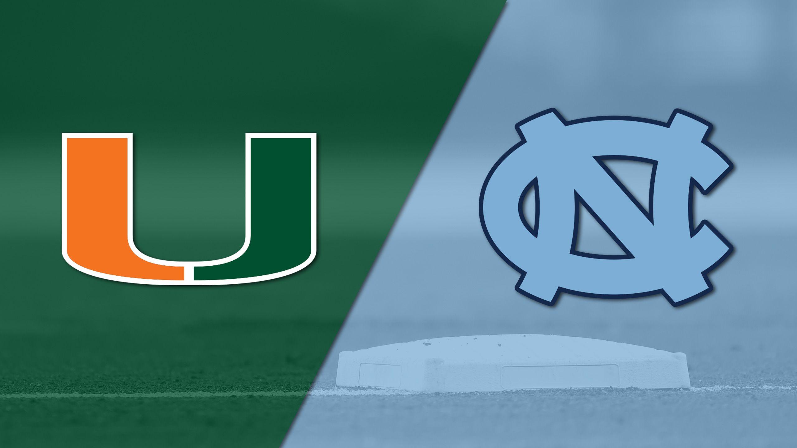 Miami vs. #9 North Carolina (Baseball)