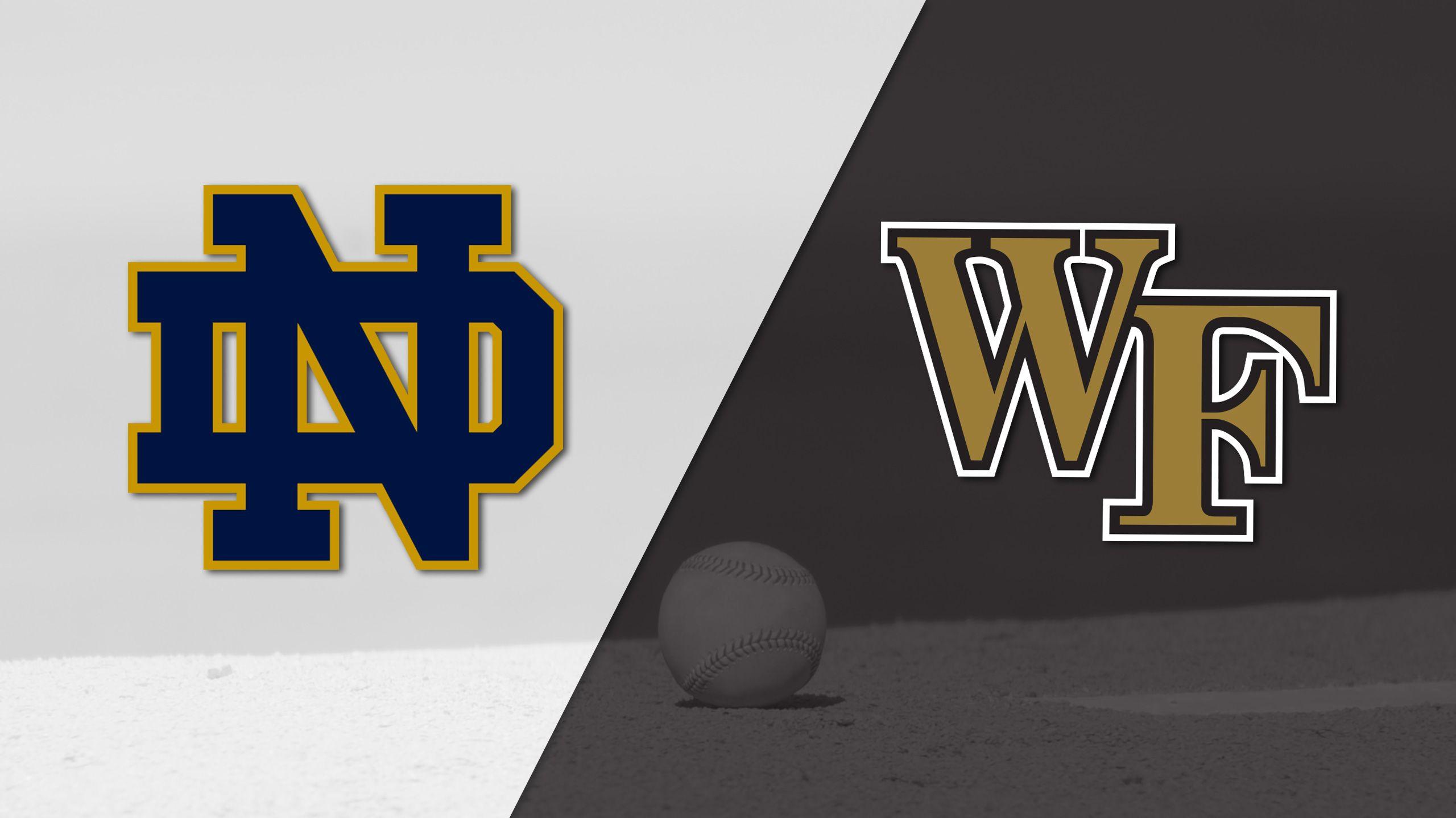 Notre Dame vs. #22 Wake Forest (Baseball)