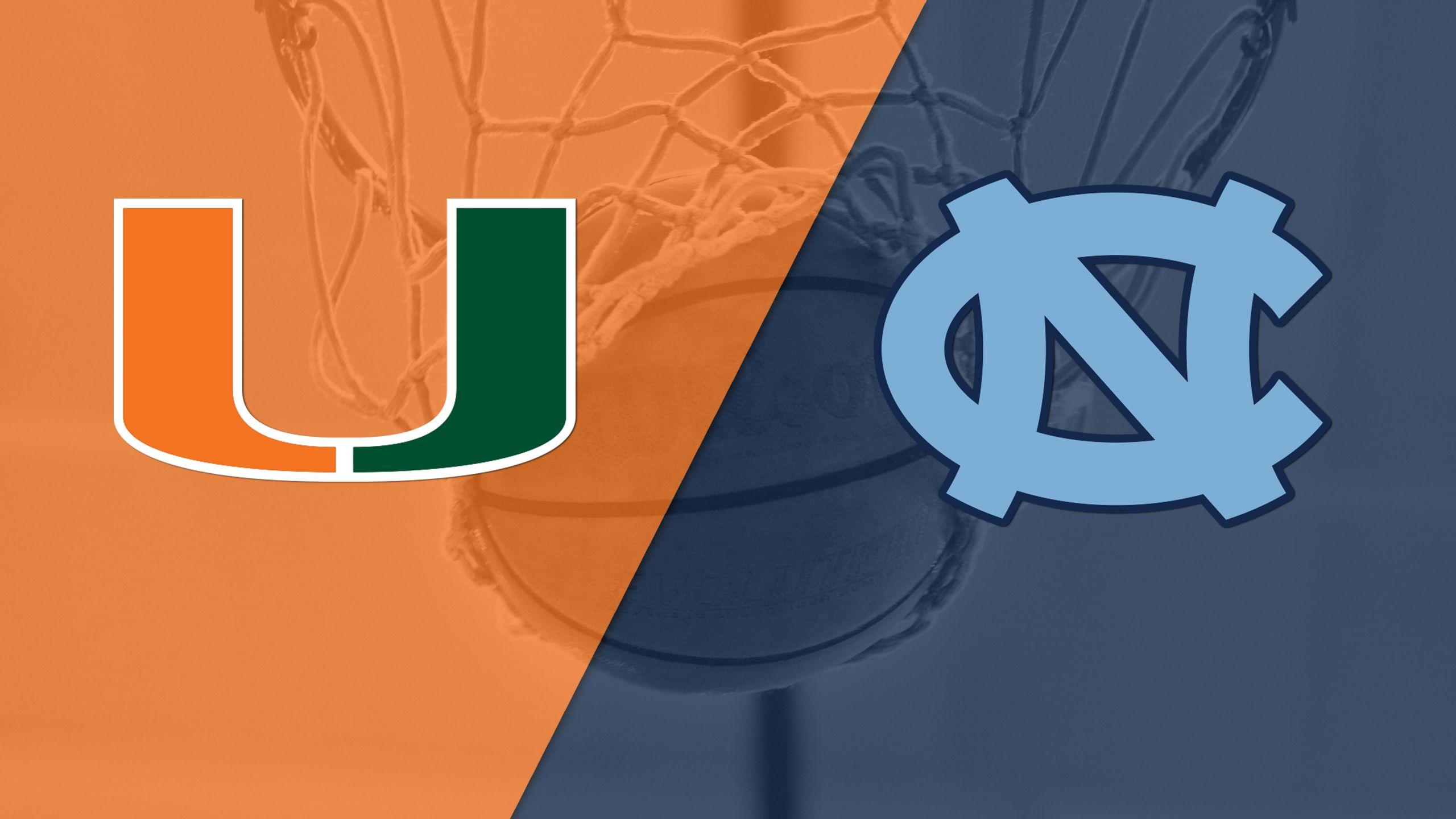 Miami vs. #6 North Carolina (Quarterfinal #1) (ACC Men's Tournament)
