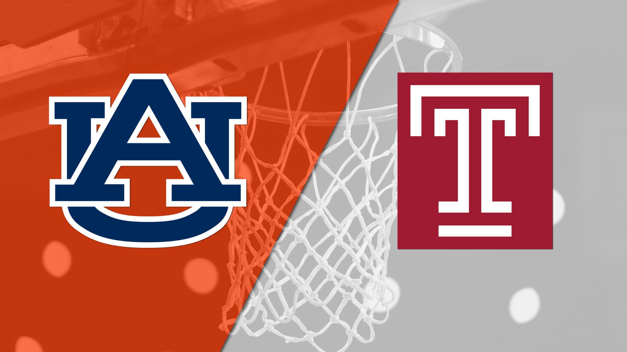 Auburn vs. Temple (Semifinal #1) (Gildan Charleston Classic)