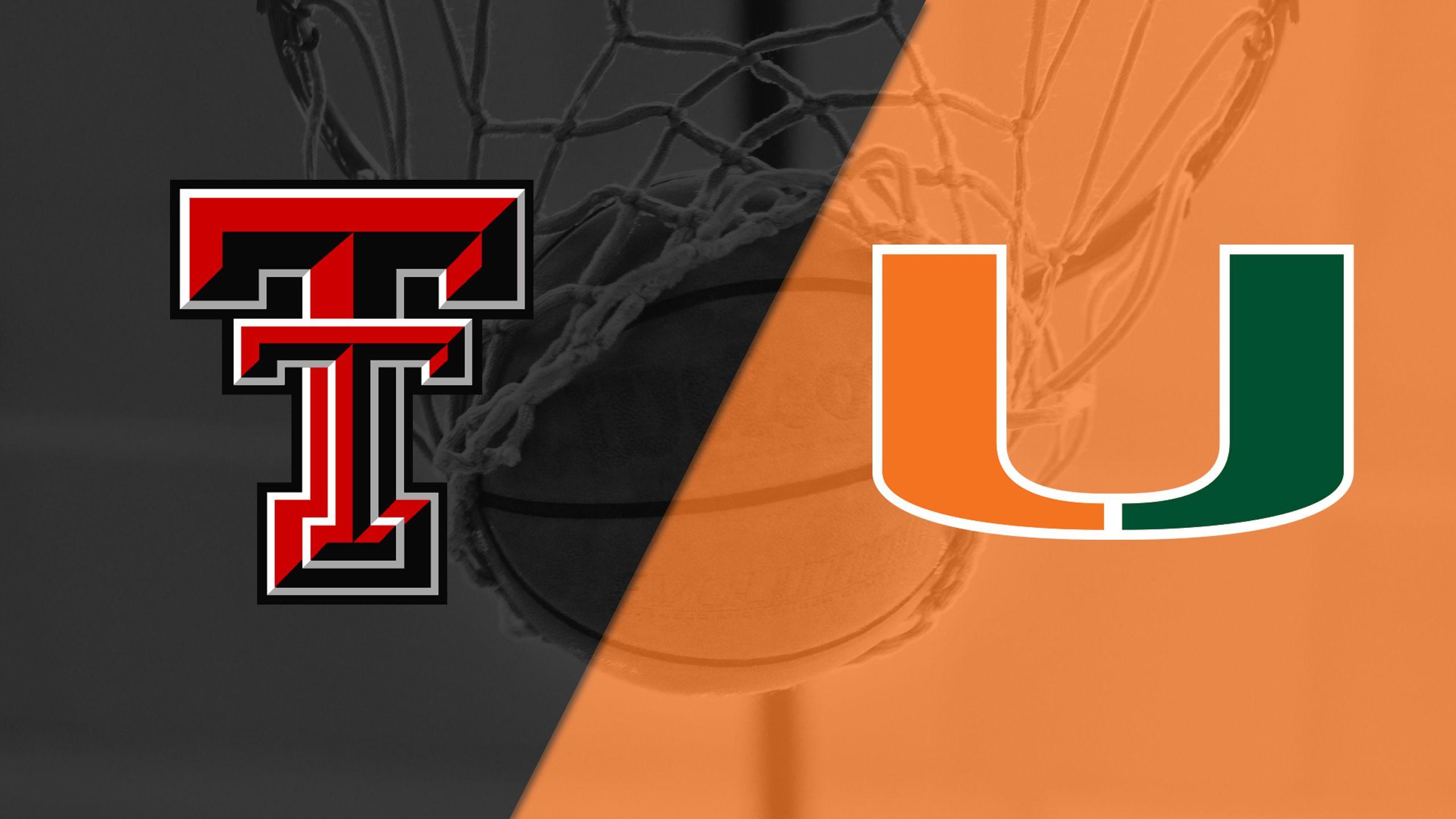 Texas Tech vs. #21 Miami (W Basketball)