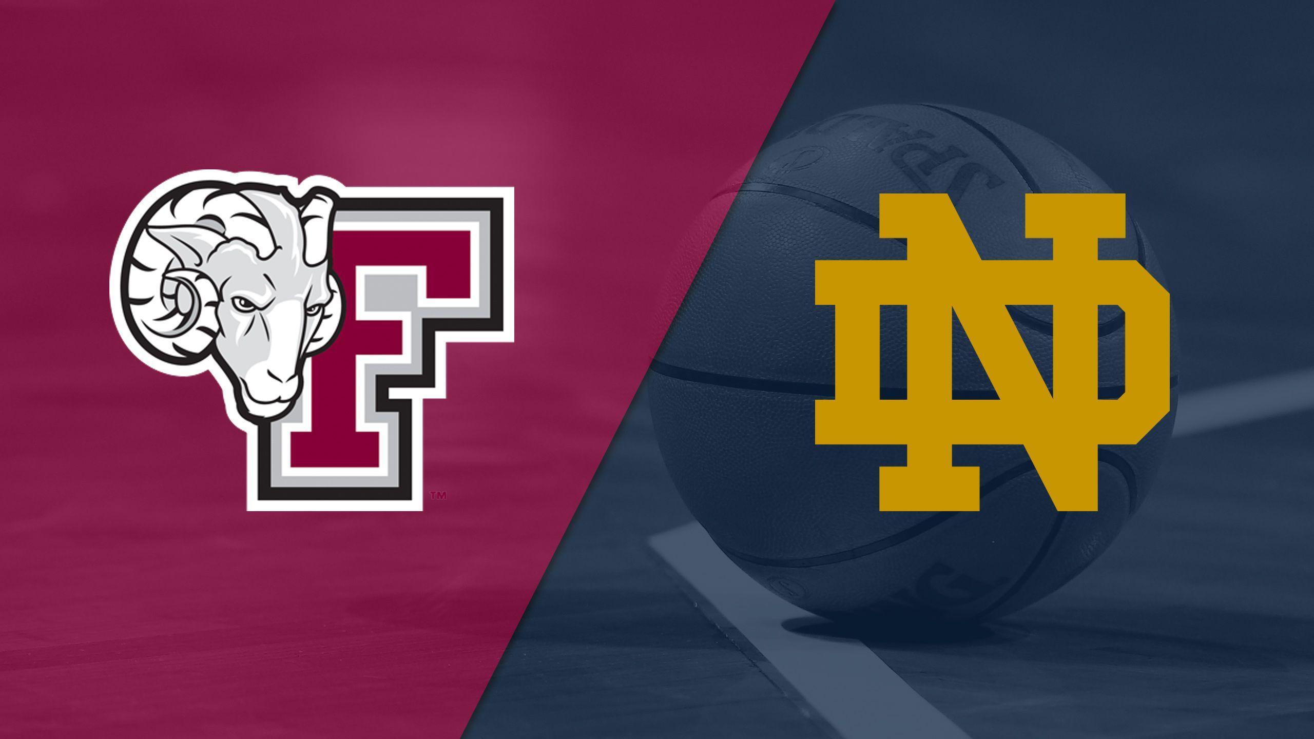 Fordham vs. #1 Notre Dame (W Basketball)