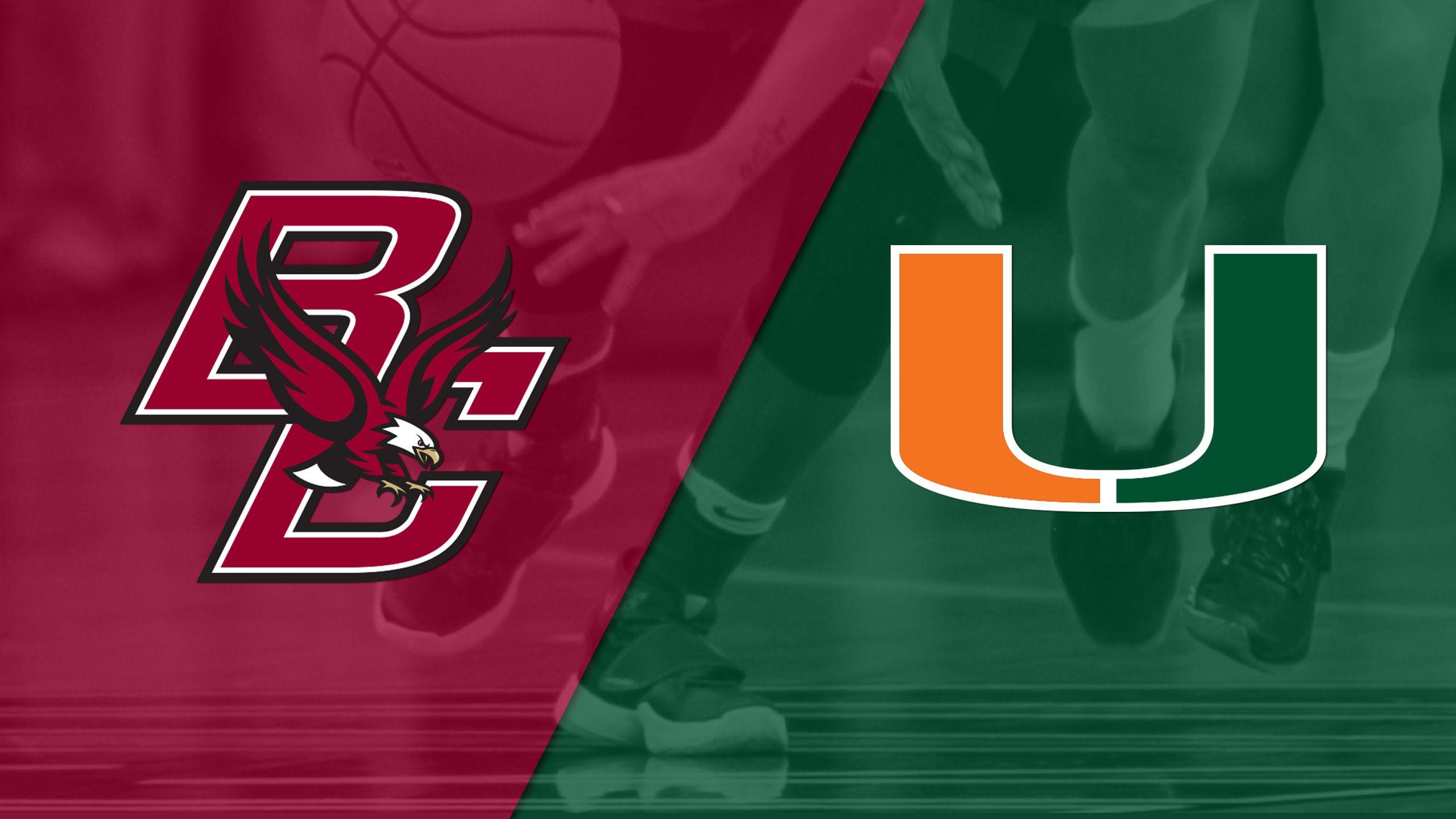 Boston College vs. #17 Miami (W Basketball)
