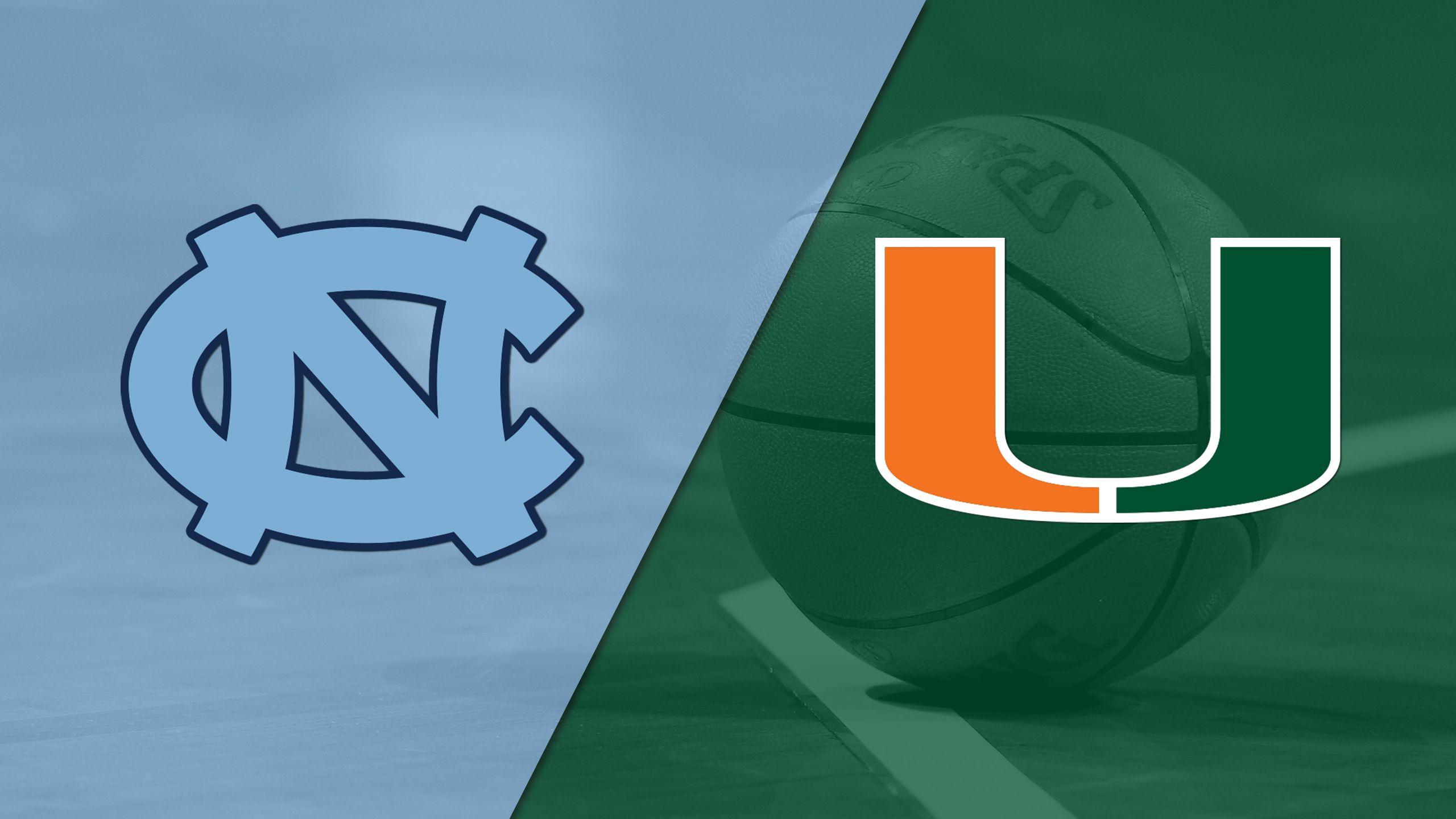 North Carolina vs. #17 Miami (W Basketball)
