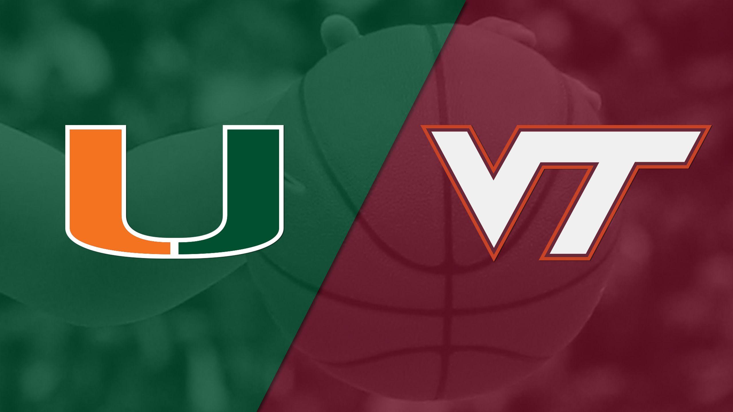 #17 Miami vs. Virginia Tech (W Basketball)
