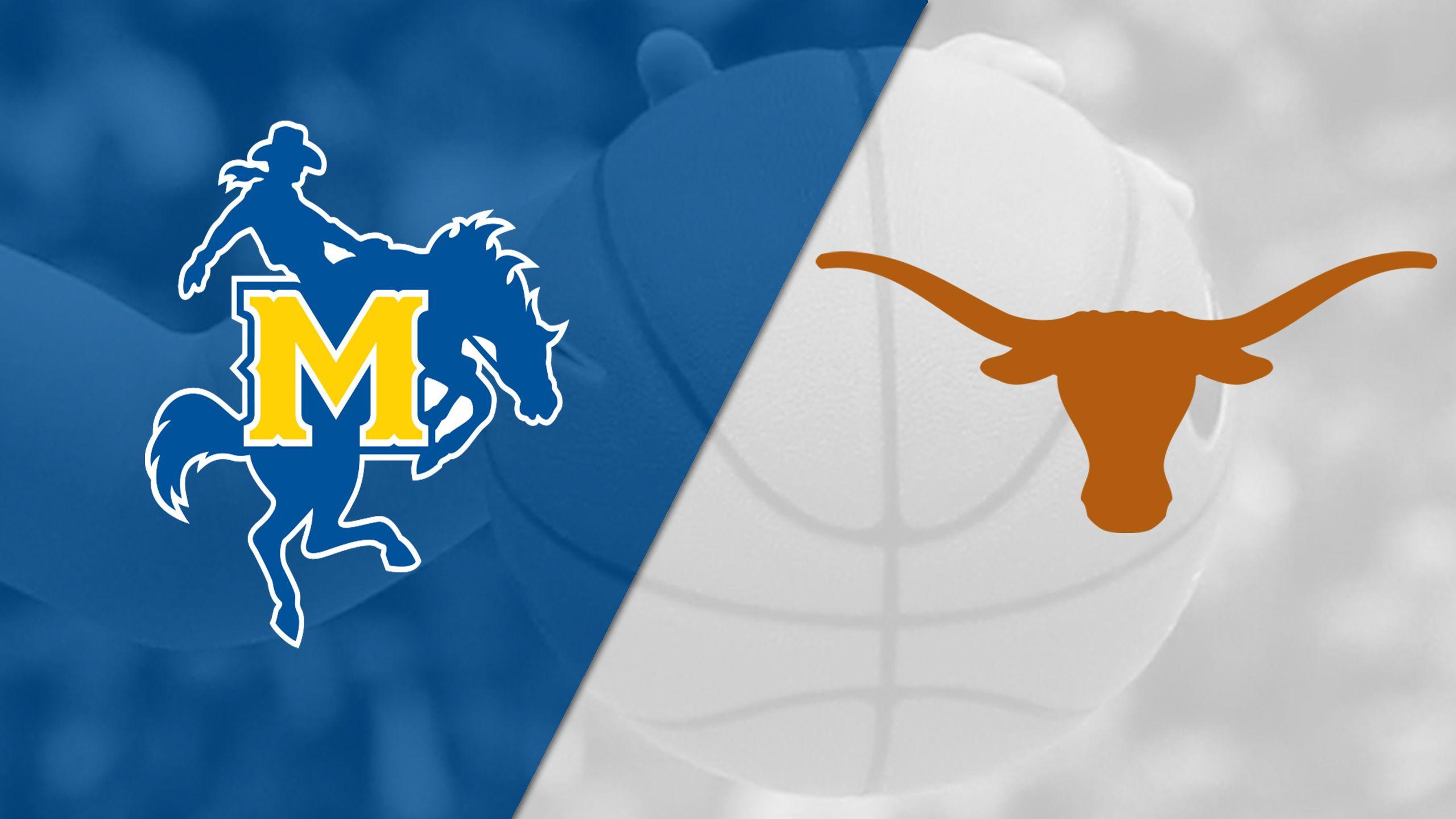 McNeese vs. #2 Texas (W Basketball) (re-air)