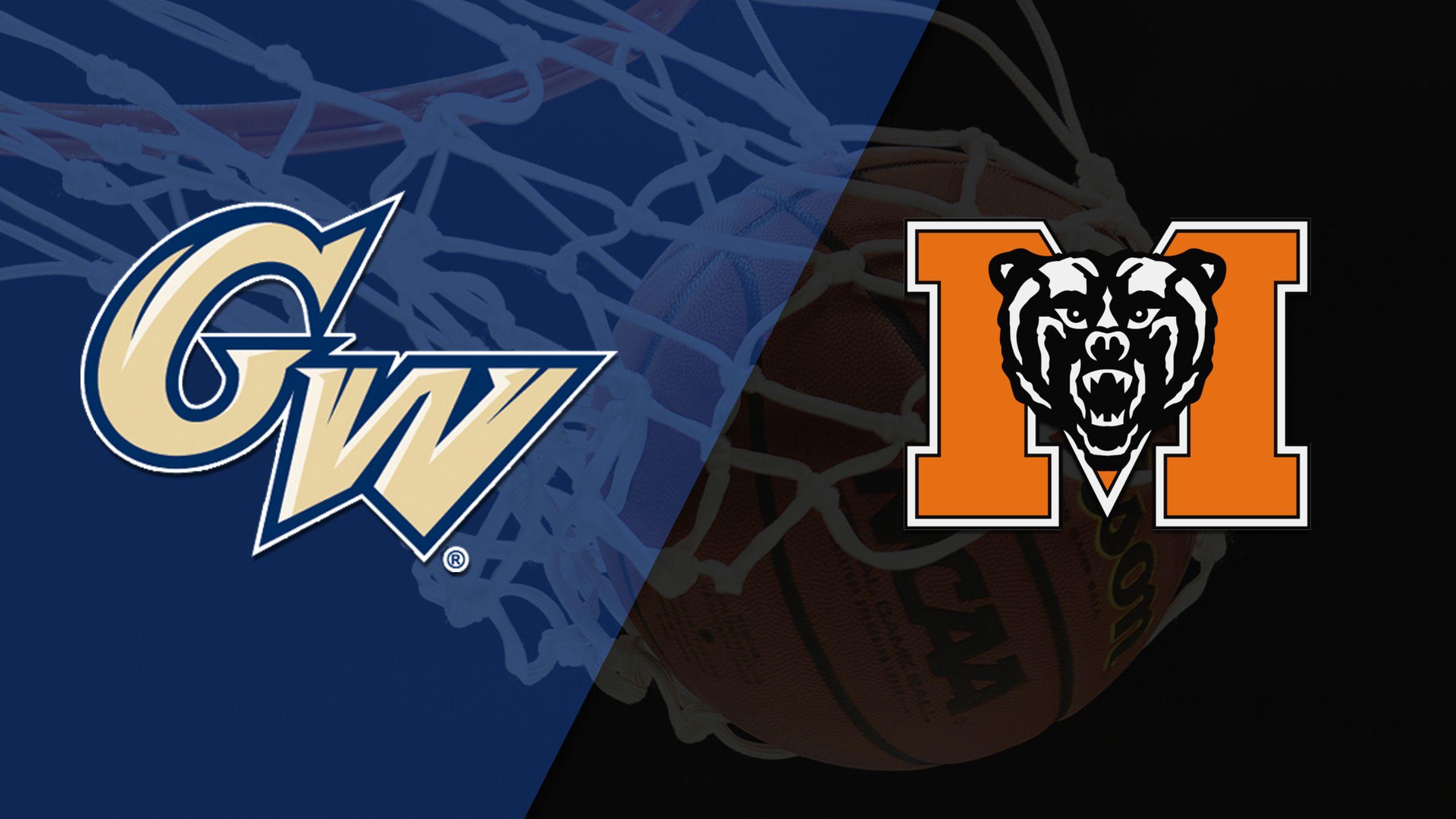 George Washington vs. Mercer (W Basketball)