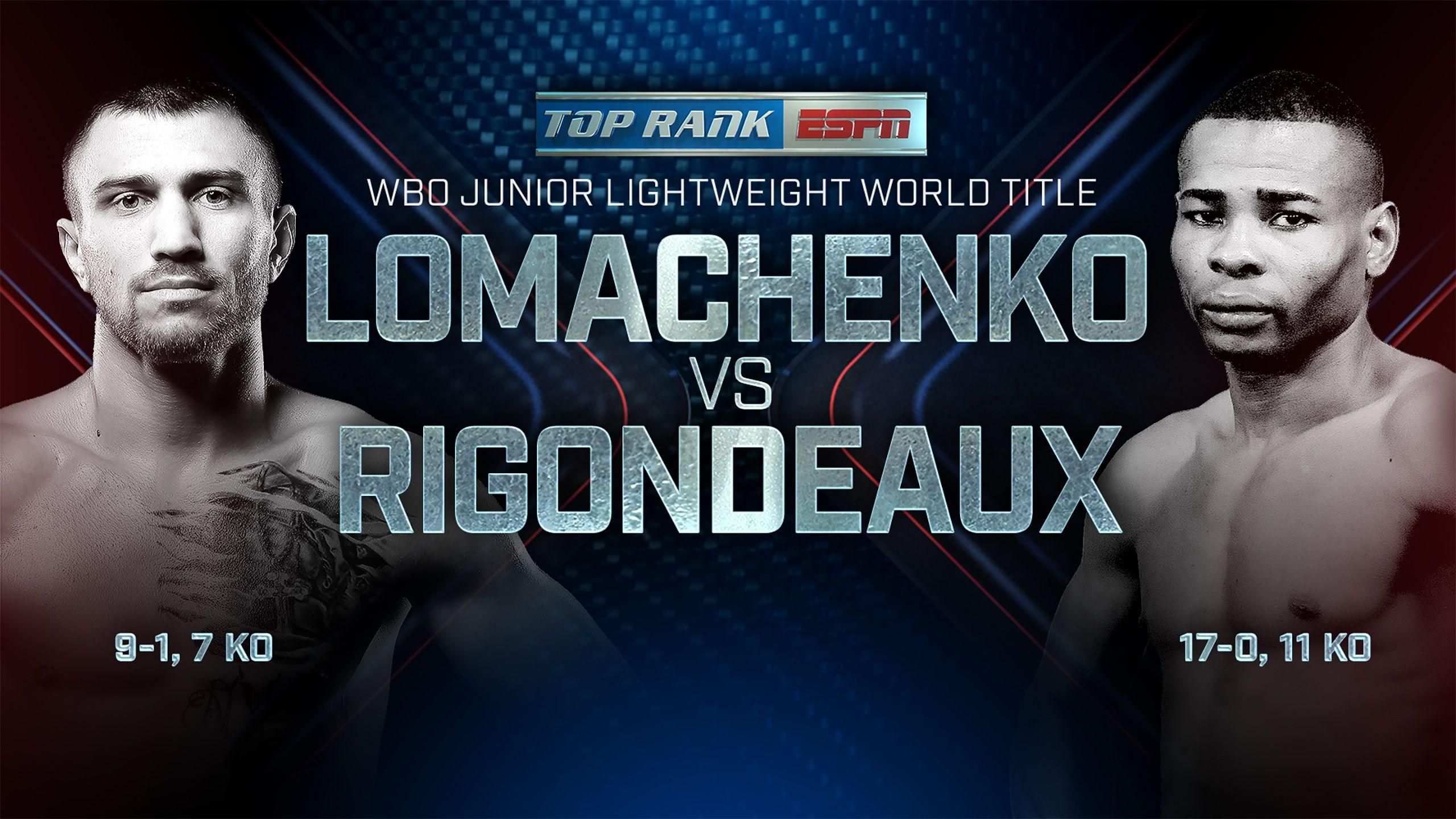 Top Rank Boxing on ESPN: Lomachenko vs. Rigondeaux Official Press Conference