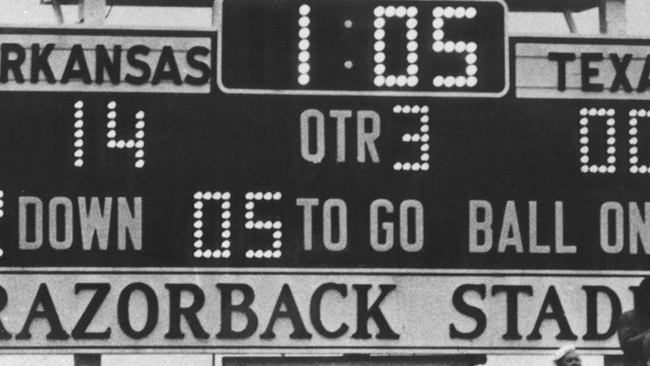 Texas Longhorns vs. Arkansas - 12/6/1969 (re-air)