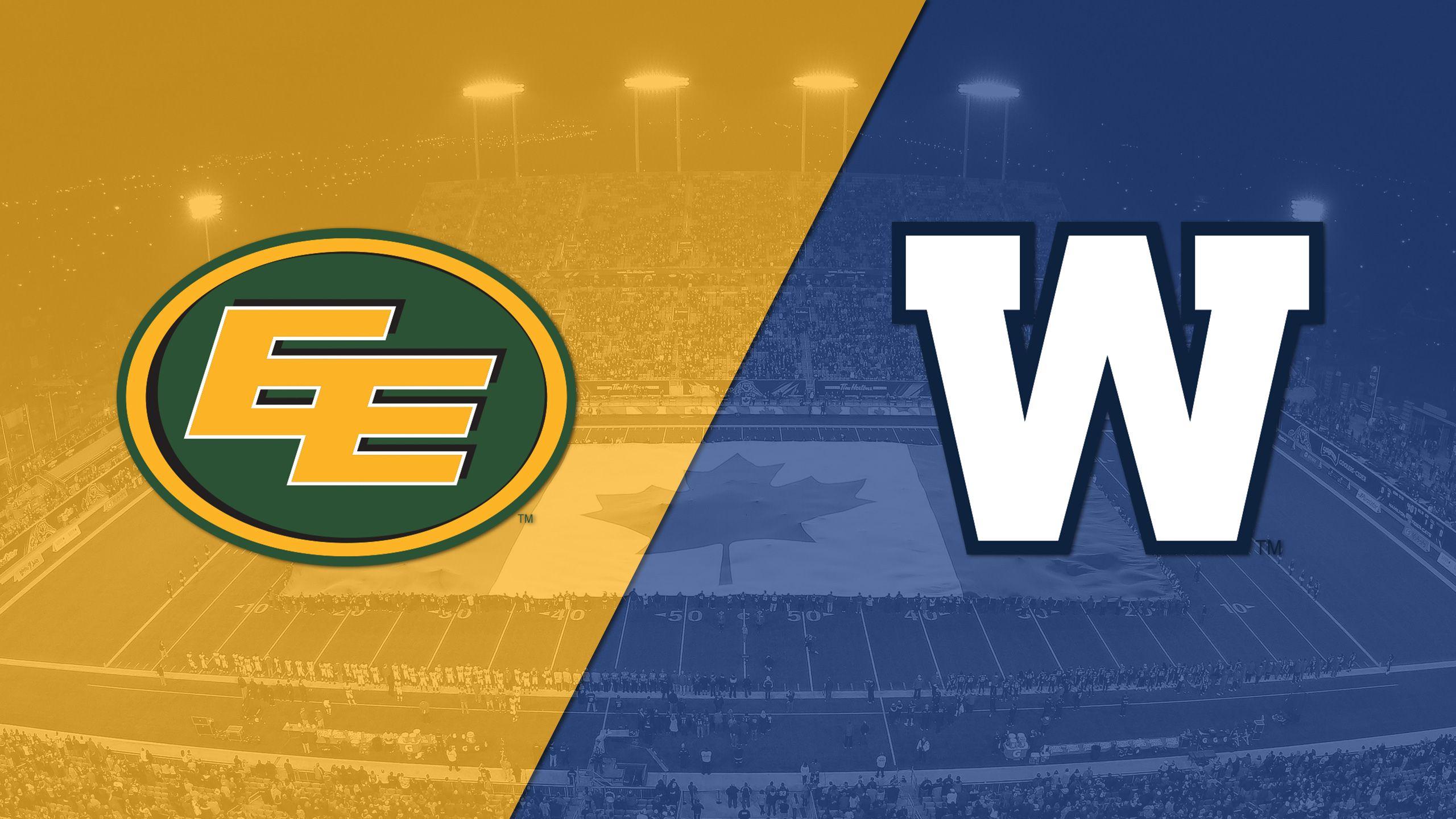 Edmonton Eskimos vs. Winnipeg Blue Bombers
